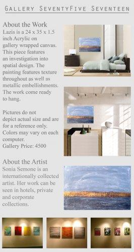 Modern Abstract Art Painting Wall Sculpture Semone GLY7