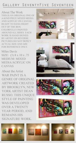 Miles Davis Painting M Media Modern Art Abstract GLY7