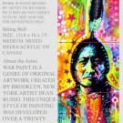 Sitting Bull Painting M Media Modern Art Abstract GLY7