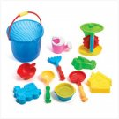 BEACH BUCKET SAND TOY SET - 36585