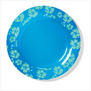 BLUE HAWAIIAN MELAMINE DINNER PLATE - 36679