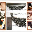 Handmade Statement Crystal Rhinestones Bib Necklace V3