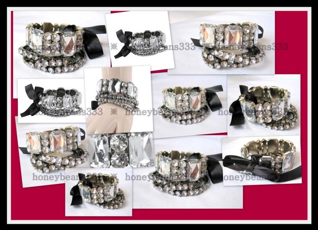 NEW Pretty Crystal Rhinestone Cuff Bangle Bracelet 057