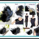 2Way Bird Pigeon Sequin Feather Hair Clip Pin Brooch 77