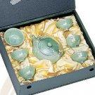Emerald Green Crystal Full Tea Set