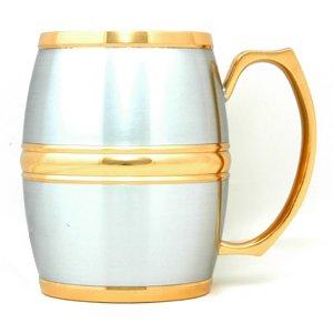 Carlson Barrel Mug (Gold Trimmed - B) G1213