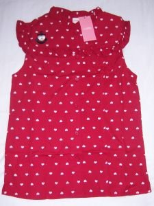Gymboree BON VOYAGE Girl Shirt 10 NWT New RED HEART