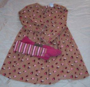 BABY GAP Corduroy Dress Tights 4T TREEHOUSE WOODSY EUC
