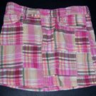 BABY GAP Skirt 4T MADRAS EUC Summer PINK Toddler Girl