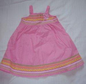 Gymboree SUNFLOWER FIELDS Dress 2T EUC SUMMER PINK