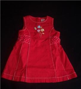 Gymboree WISH YOU WERE HERE Dress 2T NEW NWT Red