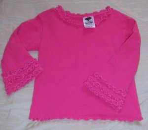 MULBERRIBUSH Long Sleeve Shirt 4T PINK FALL Girl