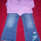 GAP TREEHOUSE WOODSY Jeans Shirt EUC 3 3T FALL