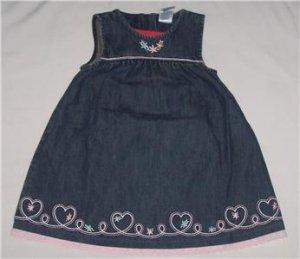 Gymboree PARK CITY LUXE DENIM Heart Jumper DRESS 2T NEW