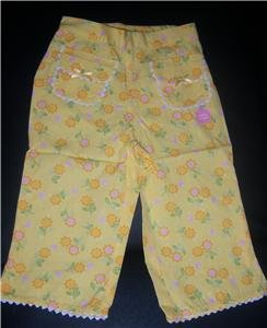 Gymboree SUNFLOWER FIELDS Capri Pants NEW 2T NWT