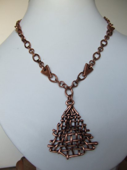 Copper Necklace Model DSCF1105