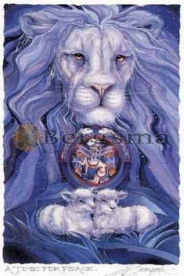 Jody Bergsma Art Lion Lamb Time For Peace