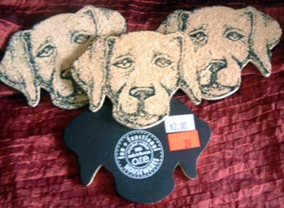 Cork Magnets DOG HEAD Heat Table Protector