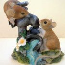 Mice on Water Spout Collectible Decor