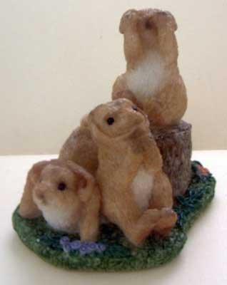 Stone Critters : Rabbit No Evil Trio : United Design