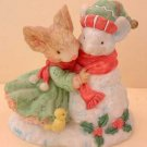FROSTY the SNOWMOUSE Mouse Winter Figurine by Tiny Talk MINT