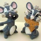 Spaghetti MICE Pair Mouse Collectible Figurines Set