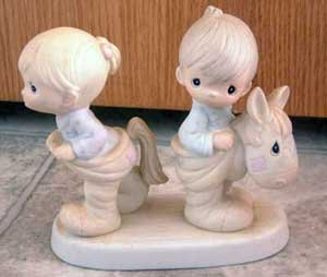 Precious Moments : How Can Two Walk Together Except They Agree : Enesco Porcelain