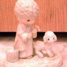 Precious Moments : His Sheep Am I : Enesco Porcelain