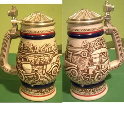Classic Cars Avon Collector's Stein Raised Lid Design