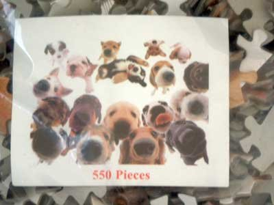 'THE DOG' 550 Piece Puzzle NIP Breed Puppy Dogs