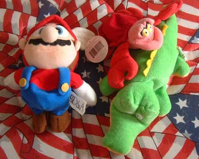 Plush Lot Mario Brothers Sebastian Crab Alligator