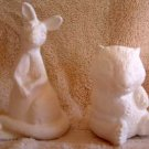 Ceramic Bisque KANGAROO WOMBAT African Animals