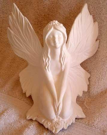 Ceramic Bisque FAIRY Beautiful Detail Large Fantasy