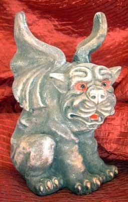 Winged Cat GARGOYLE NWT! Gothic Fantasy Goth