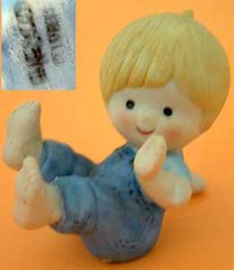 Boy Tumbler Tumbling Bandage on Elbow Enesco Country Cousins