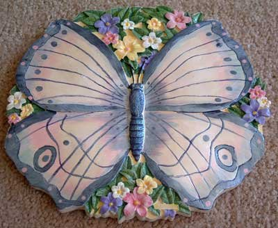 BUTTERFLY Stepping Stone GIFT Wall Plaque NEW