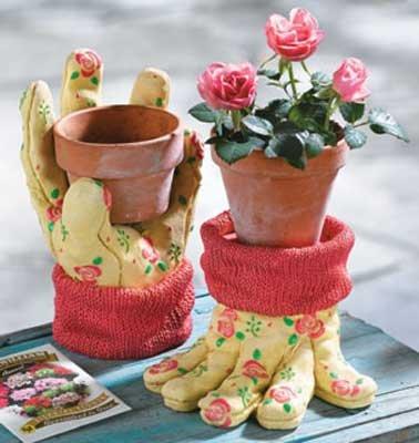 Gardener's GLOVES Pot Holders Yard Garden Home Decor