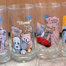 ET Pizza Hut Drink Glasses Lot Set/4 Limited Edition