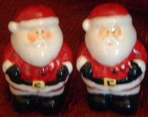 Santa Claus Salt & Pepper Shakers NEW Christmas Holiday