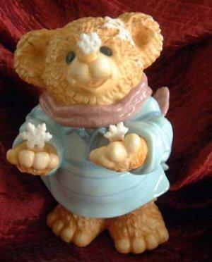 Teddy BEAR w/ Snowflake Scarf Seasonal Holiday Decor NWT