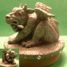Dragon GARGOYLE Candle Jar Fantasy Topper -NIB- Our America