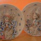 Mini Angel Plate Plates Set Lot of 2 NEW