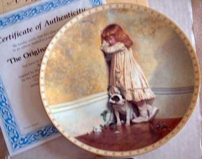 'The Original - In Disgrace' Royal Daulton Porcelain Collector Plate
