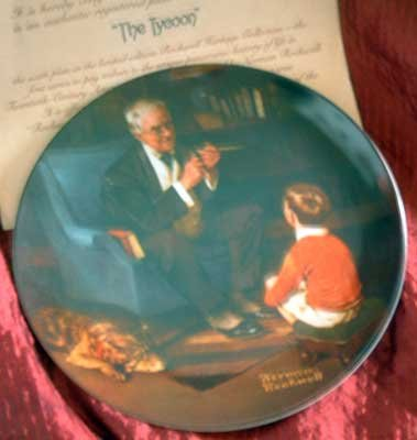 'The Tycoon' Norman Rockwell LMT ED Collector Plate