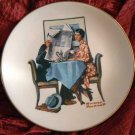 Norman Rockwell Collector Plate Danbury Mint 'Breakfast Conversation'