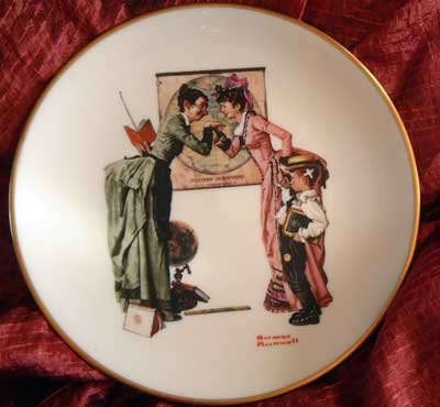 Norman Rockwell Plate Danbury Mint 'Back to School'