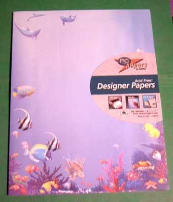 Designer Paper - Seascape - 24 lb. Acid Free NIP 25 Sheets