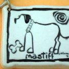 Mastiff Cavern Canine Dog Breed Stoneware Ceramic Clay Jewelry Key Chain McCartney - NEW