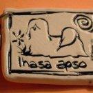 Lhasa Apso Cavern Canine Dog Breed Stoneware Ceramic Clay Jewelry Key Chain McCartney - NEW
