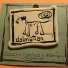 Dalmatian Cavern Canine Dog Breed Stoneware Ceramic Clay Jewelry Pin McCartney - NEW